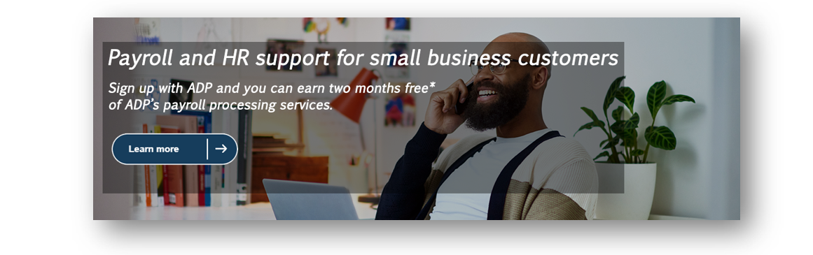 Payroll and HR support for small business customers