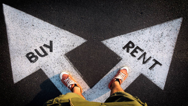 Should you buy a house or<br> keep renting?